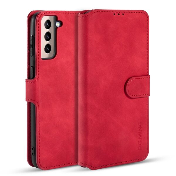 Card Slot Flip Cover Case Galaxy S21 Plus - Red