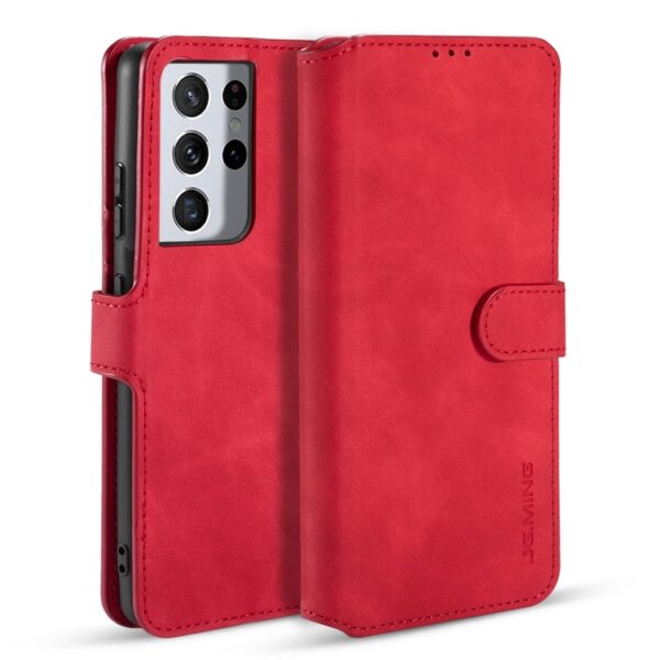 Card Slot Flip Cover Case Galaxy S21 Ultra - Red