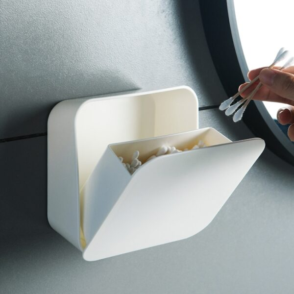 Wall Mounted Storage Box For Ear Buds & Makeup Sponges
