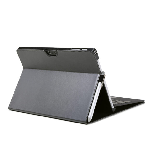Leather Flip Cover Case For Microsoft Surface Pro 6 Grey