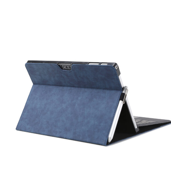 Leather Flip Cover Case For Microsoft Surface Pro 6 Blue