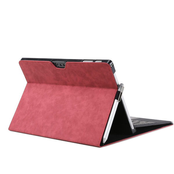 Leather Flip Cover Case For Microsoft Surface Pro 6 Red