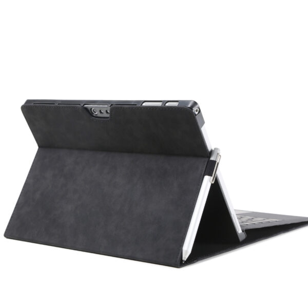 Leather Flip Cover Case For Microsoft Surface Pro 6 Black