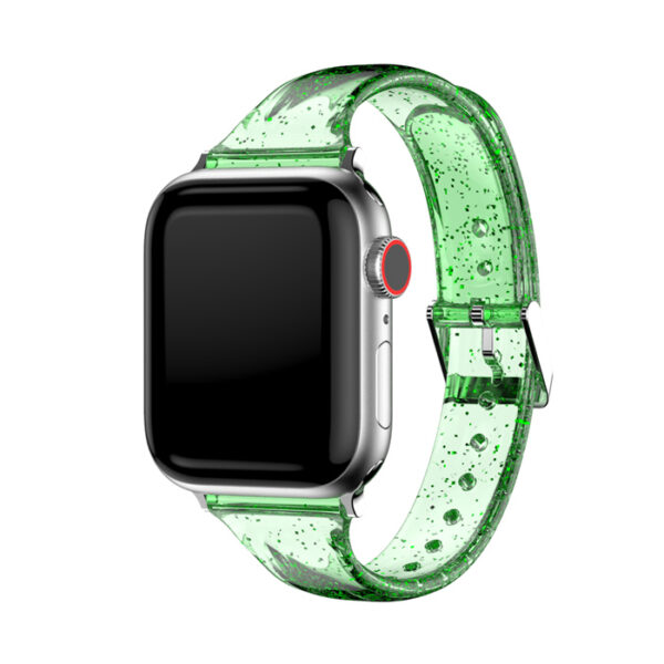 Transparent Glitter Silicone Strap Band Apple Watch